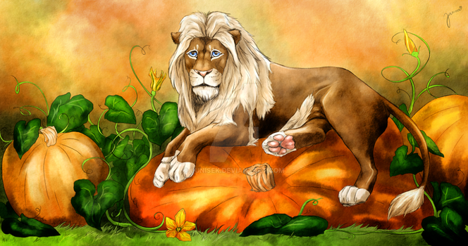 Pumpkin lion by Junisek