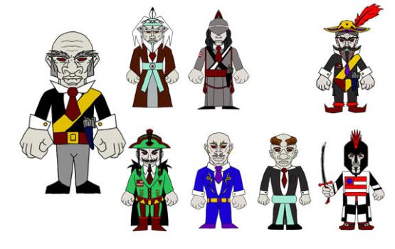 Character Designs by Tombstonedust