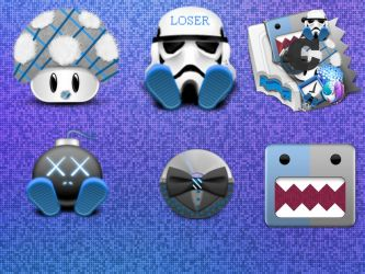 BLUE MIX ICONS MOD BY BS03 by babysnoop03