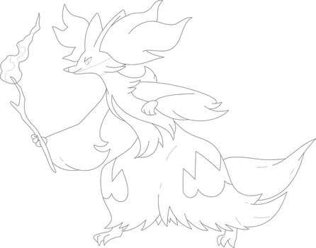 TeamGold4321 8 2 Lineart Of Delphox By InuKawaiiLover