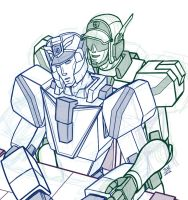Sketch request: Deckerd and Gunmax by Wrecker-lady