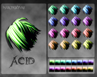 MMD Acid Hair Texture by Xoriu