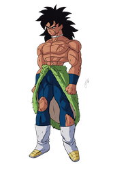 Broly 2018 !(traje inicial render) by zala77s