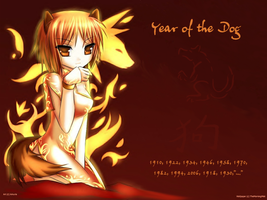 Year of the Dog Wallpaper by TheMorningMist