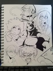 My Hero Academia Lineart - WIP by TheMagicalTree