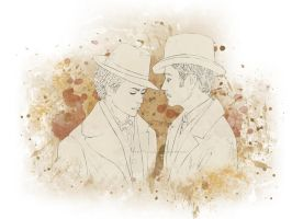 Holmes and Watson by Lenap