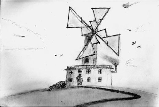 Marchian Windmill by Jay-Hawkeye