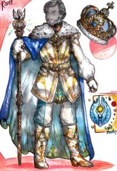 King of the Light - Coronation clothes by FuriarossaAndMimma