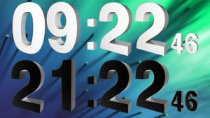 Real 3D Clock for xwidget by Jimking