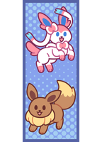 Eevee and Sylveon Bookmark by BonbonBox