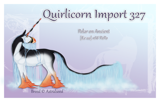 Custom Quirlicorn Import 327 by Astralseed