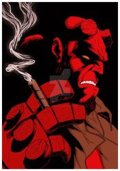 Hellboy Print for CCXP 2017 by antoniocoltro
