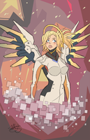 OVERWATCH- MERCY :3 by LATIFFY