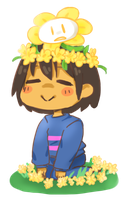 Frisk And Flowey by Millenium-Lint