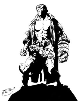 Hellboy-digital by Sketch64