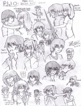 Percy Jackson Sketches by z3ro-hour