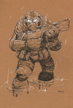 Character Design: Future Soldier by gravyboy