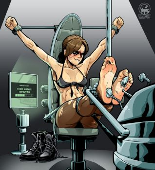 Quiet feet tickling (MGSV) by Briel7