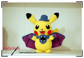 Pikachu in Halloween costume by sabrinapina