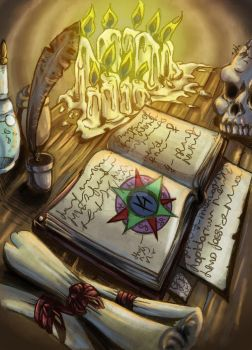 magic book (color) by dorothylove
