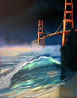 Golden Gate Bridge by chateaugrief