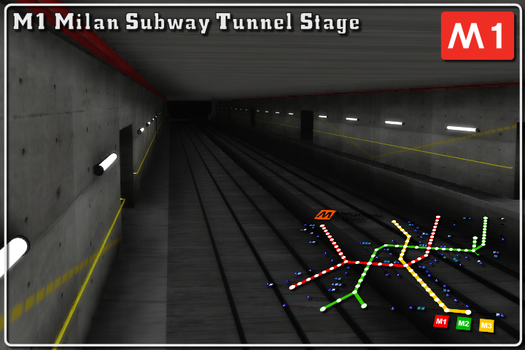 [MMD] M1 Subway tunnel stage Download (Ver. 1.1) by Riveda1972