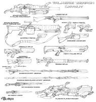Weapons layout by Stormcrow135