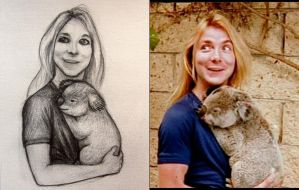 Dave Murray with koala) by Felis-Irbis