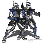 ARC Troopers Echo and Fives Colored by Blayaden