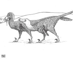 Velociraptor by ExIllustrated