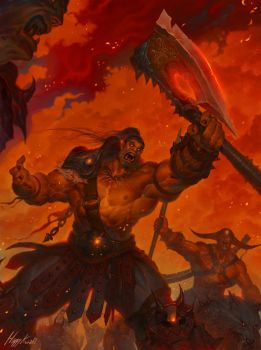 Warlords of Draenor : Gromash hellscream by happykwak