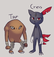 Taur and Cress by Flavia-Elric