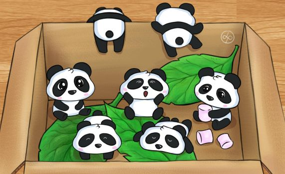 Mini Pandas by theblueguy07
