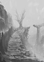 Lonely path by Nerkin