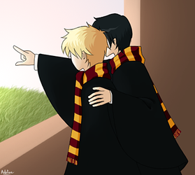 Young Sirius and Remus by vox-vocis