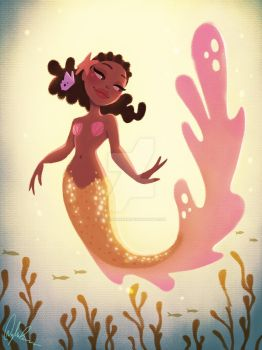 Gold Mermaid by DylanBonner