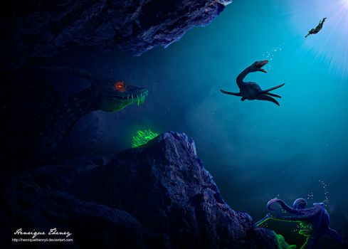 Creatures of the deep by Henriqu3Campos