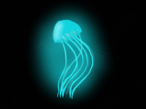 Cyan jellyfish thing by Yukan0429