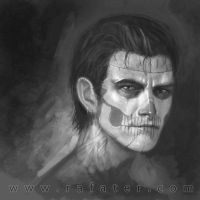 Male Face Skull by rafater