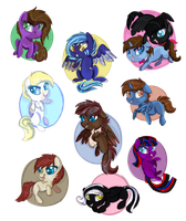 Chibi Friends by ScatteredLove
