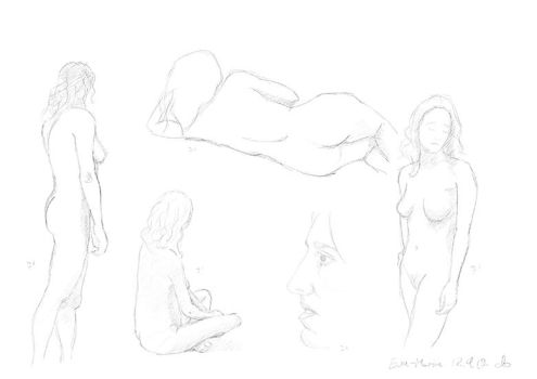 Nude woman by the-wintermute