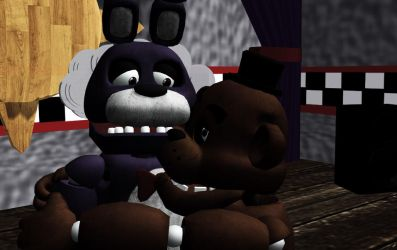 (MMD Fronnie) You are not alone Bonnie! by SeeUVocaloid3channel
