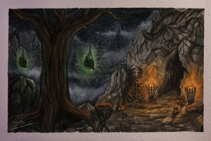 Skyrim - Glenmoril Coven (Watercolor) by Tyooky