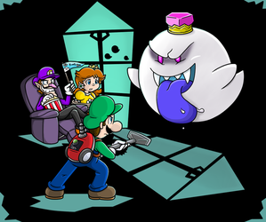 Commish: Final battle by Nintendrawer