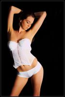 Kathryn - white corset 2 by wildplaces