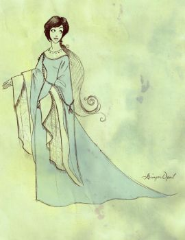 early15th century dress sketch by GingerOpal