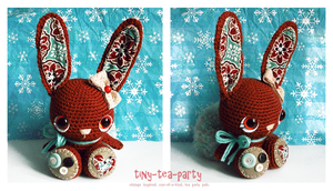 brandy the crochet amigurumi bunny - SOLD. by tiny-tea-party