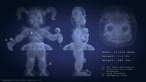 Circus Baby - Blue Print by TheSitciXD