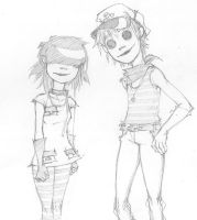 2D and Noodle by HYDROAQUAMARINE