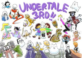.: 3RD ANNIVERSARY : UT DOODLE REQUESTS :. by ZKCats
